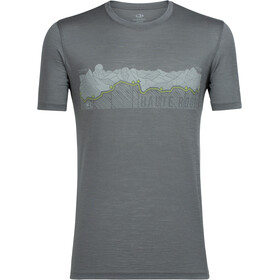 Icebreaker M's Tech Lite Haute Route SS Crewe Shirt metal